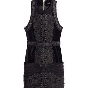 *sold out* Balmain black rope dress velvet size 10